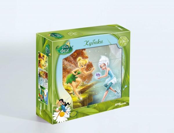 DISNEY 9 кубиков Феи87128Кубики являются одной из самых популярных игрушек для самых маленьких. Яркие запоминающиеся образы любимых героев Disney создают положительный настрой во время игры и помогают справиться с задачей. Кубики из серии Disney рекомендованы для детей от 2х лет.
