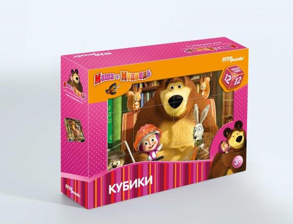 """12 кубиков """"Маша и Медведь"""""""