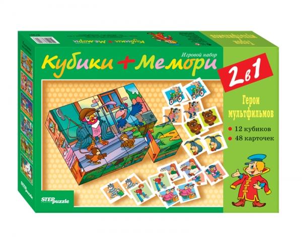 Кубики+мемори Герои мультфильмов СОЮЗМУЛЬТФИЛЬМ87321Игровой набор развивает логическое мышление, произвольное внимание, зрительную память. В процессе игры совершенствуется мелкая моторика руки и психические функции. Набор позволяет моделировать множество игровых ситуаций, способствующих развитию ребёнка.