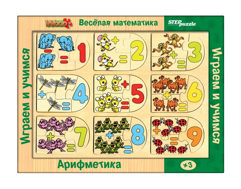 Step Puzzle Обучающая игра Веселая математика Арифметика89202Игра направлена на развитие простейших математических представлений. Их эффективному освоению способствуют предметно-манипулятивная деятельность, яркие иллюстрации, тактильное восприятие.