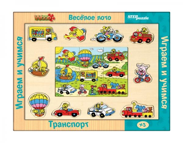 Весёлое лото.Транспорт (игра из дерева)89602Многофункциональная игра, позволяющая на своей основе моделировать более 10 развивающих игр. Разнообразие игровых ситуаций поддерживает длительный интерес ребёнка к игрушке, способствует развитию всех основных психических функций.