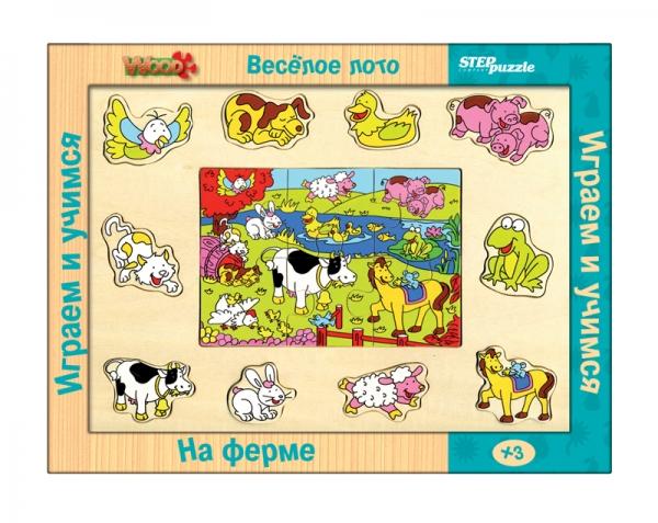 Весёлое лото. На ферме (игра из дерева)89603Многофункциональная игра, позволяющая на своей основе моделировать более 10 развивающих игр. Разнообразие игровых ситуаций поддерживает длительный интерес ребёнка к игрушке, способствует развитию всех основных психических функций.