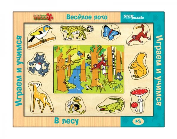 Весёлое лото. В лесу (игра из дерева)89604Многофункциональная игра, позволяющая на своей основе моделировать более 10 развивающих игр. Разнообразие игровых ситуаций поддерживает длительный интерес ребёнка к игрушке, способствует развитию всех основных психических функций.