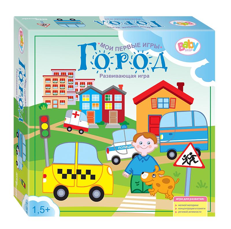 Step Puzzle Развивающая игра Город89804Город - это 4 развивающих игры для детей в одной коробке. Направлены на формирование речи, памяти, воображения и мелкой моторики. Играя, ребенок получает, навык общения, и умения придерживаться правил.