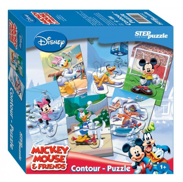 Игра DISNEY Микки Маус. Contour-Puzzle92102Контур-пазлы отлично подходят для самых маленьких. Представляют собой фигурки героев Диснея, состоящих из отдельных частей и находящихся в специальной рамке. Благодаря своей необычной форме, они удобные в манипулировании, активно развивают мышление, внимание и память. Пазлы Компании Step Puzzle выполнены из высококачественного материала, не содержат токсичных материалов. Мы гарантируем высокое качество каждого пазла и точность подгонки.