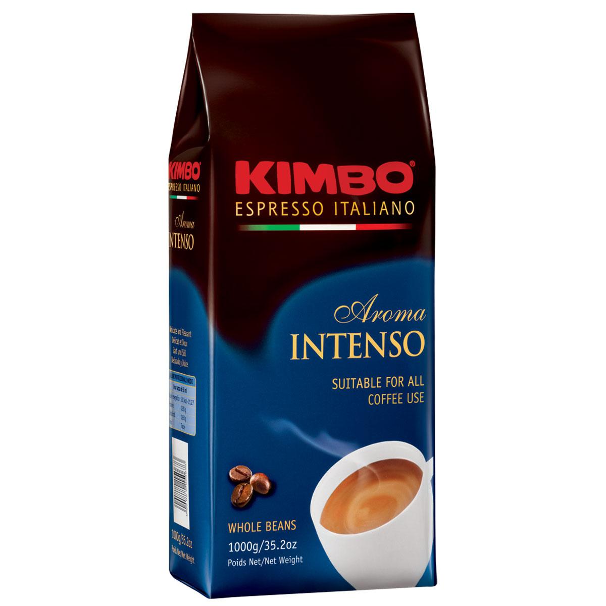 Kimbo Aroma Intenso кофе в зернах, 1 кг8002200109080Натуральный жареный кофе в зернах Kimbo Aroma Intenso. Крепкий, с шоколадным послевкусием и ярким ароматом. Изысканная смесь арабики и робусты придаёт «Кимбо Арома Интенсо» насыщенный вкус. Состав смеси: 80% арабика, 20% робуста.