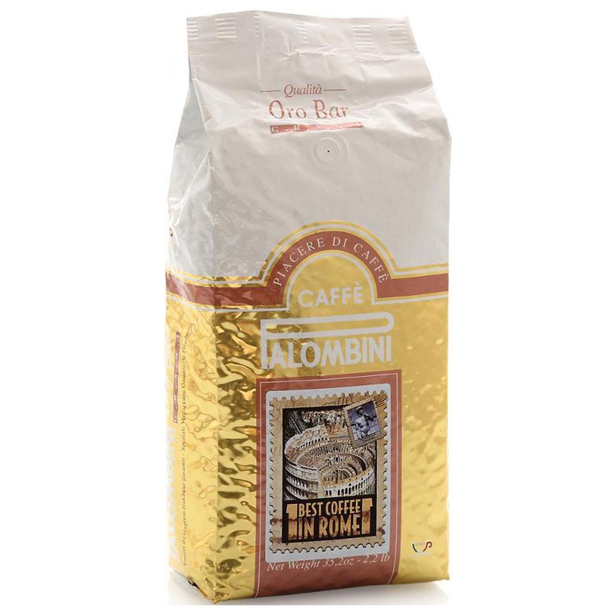 Palombini Oro Bar кофе в зернах, 1 кг8009785302417Натуральный жареный кофе в зернах Palombini Oro Bar, высший сорт. Самые ценные атрибуты этой смеси - выразительность вкуса и насыщенная консистенция. Oro Bar замечательно подойдет как для приготовления пробуждающего эспрессо, так и изысканного каппуччино. Смесь содержит 85% арабики и 15% робусты.