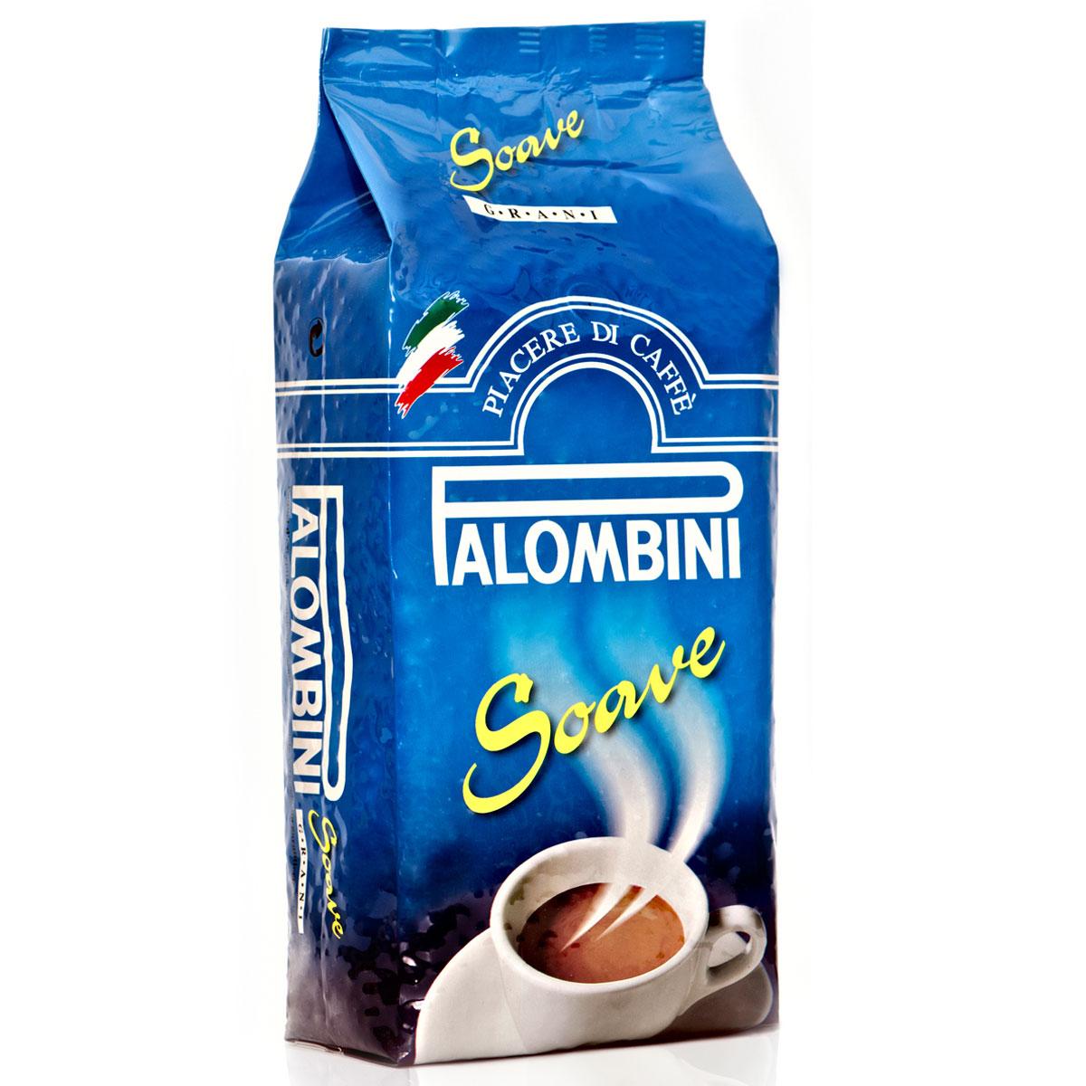 Palombini Soave кофе в зернах, 1 кг8009785305005Натуральный жареный кофе высшего сорта Palombini Soave в зернах. Исключительный аромат и запоминающийся вкус . Рекомендуется для приготовления в домашних условиях. Состав смеси: 75% арабика, 25% робуста.