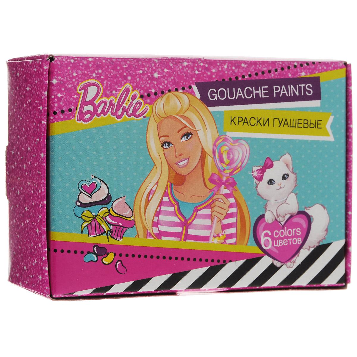 "Краски гуашевые ""Barbie"", 6 цветов. BRCB-US1-GU-6"