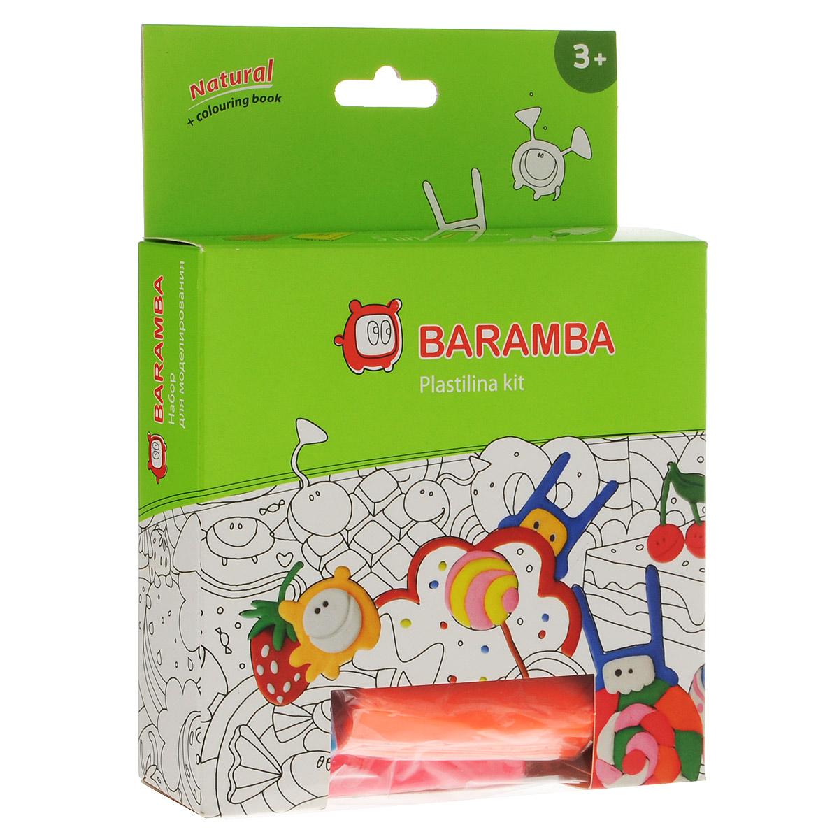 Набор для рисования пластилином Baramba Plastina kit, 10 предметовB30014Набор для рисования пластилином Baramba Plastina kit познакомит вашего ребенка с техникой пластилинографии и поможет создать яркие оригинальные картины. В набор входит все необходимое: 5 брусочков мягкого пластилина желтого, розового, зеленого, синего и оранжевого цветов, стеки 3 штуки - для нанесения фактуры, скалка и один лист с контурным рисунком ракеты. Пластилин безопасен, не липнет к рукам и не пачкает одежду. При необходимости легко смешивается между собой. Во время игры ребенок учится технике рисования пластилином, которая способствует развитию мелкой моторики и творческого мышления. Не рекомендуется детям до 3-х лет.