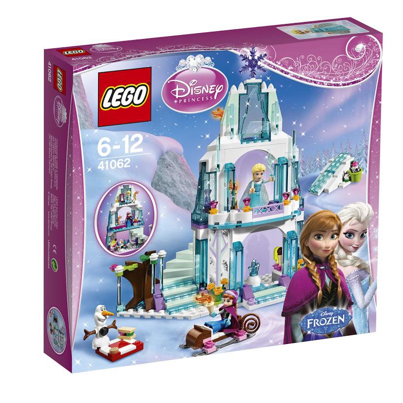 LEGO Disney Princess Конструктор Ледяной замок Эльзы41062Садись на санки и присоединяйся к Анне и Олафу. Отправляйтесь в прекрасный ледяной замок королевы Эльзы и повеселитесь там! С чего начать? Поиграть в прятки за тайной лестницей или покататься на коньках вокруг замка? Можно скатиться на лыжах с ледяного холма или приготовить холодные лакомства в мороженице замка и устроить пикник под великолепным деревом из сосулек. Все зависит от тебя! Сначала построй искрящийся ледяной замок Эльзы. А теперь играй в нем! Этот красочный игровой набор содержит 292 пластиковых элемента для сборки, в том числе фигурку снеговика Олафа и мини-куколки в виде королевы Эльзы и принцессы Анны, а также инструкцию по сборке. Конструктор - это один из самых увлекательнейших и веселых способов времяпрепровождения. Ребенок сможет часами играть с конструктором, придумывая различные ситуации и истории. В процессе игры с конструкторами LEGO дети приобретают и постигают такие необходимые навыки как познание, творчество, воображение. Обычные...