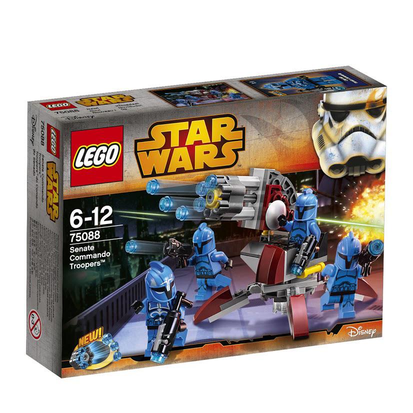 LEGO Star Wars Конструктор Элитное подразделение коммандос Сената 7508875088Эта первоклассная команда хорошо обученных солдат из мультипликационного сериала Войны Клонов вооружена до зубов. Стреляй из заряженных бластеров, а затем посади солдата на вращающуюся площадку и выпусти залп из невиданной ранее скорострельной пушки. Этот красочный игровой набор содержит 106 пластиковых элементов для сборки, 4 фигурки и инструкцию по сборке. Конструктор - это один из самых увлекательнейших и веселых способов времяпрепровождения. Ребенок сможет часами играть с конструктором, придумывая различные ситуации и истории. В процессе игры с конструкторами LEGO дети приобретают и постигают такие необходимые навыки как познание, творчество, воображение. Обычные наблюдения за детьми показывают, что единственное, чему они с удовольствием посвящают время - это игры. Игра - это состояние души, это веселый опыт познания реальности. Играя, дети создают собственные миры, осваивают их, восстанавливают прошедшие и будущие события через понарошку, а,...