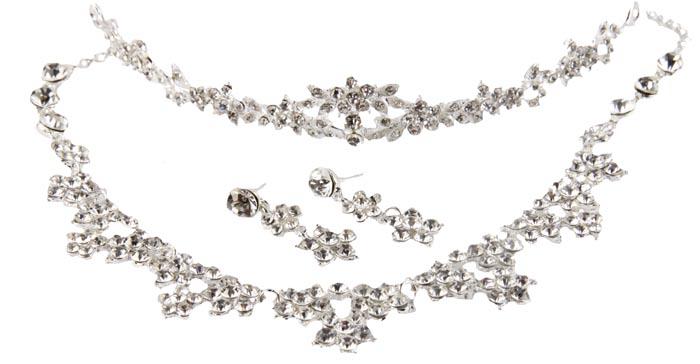 Комплект 'Романтик'. Бижутерный сплав, австрийские кристаллы. Конец XX века