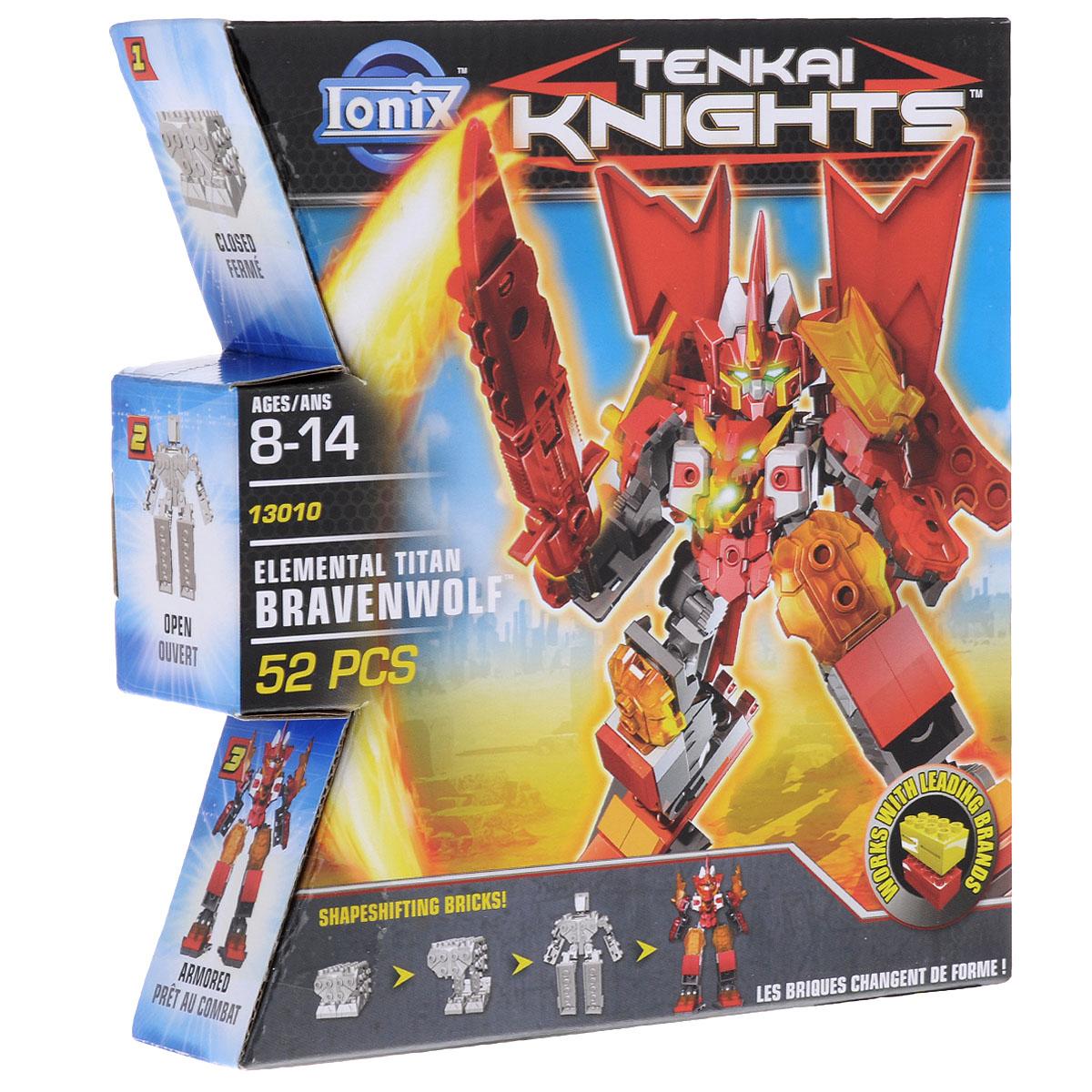 Lonix Конструктор-трансформер Tenkai Knights Титан Bravenwolf
