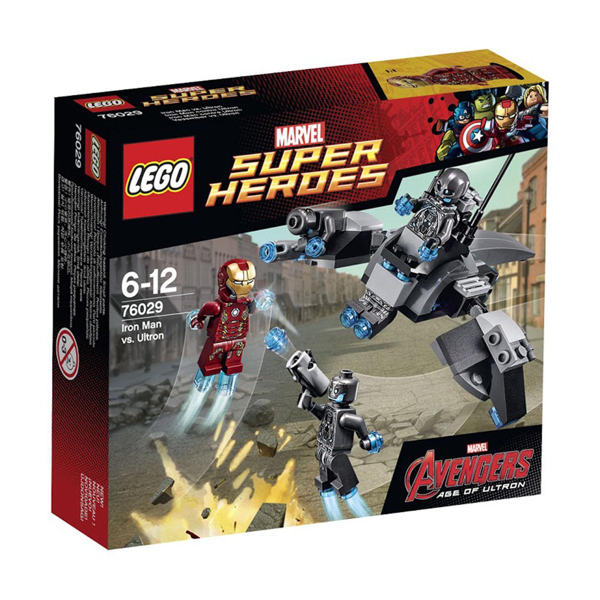 LEGO Super Heroes Конструктор Железный человек против Альтрона 7602976029Чтобы победить Железного Человека, солдаты-роботы Альтрона решили воспользоваться своим уникальным летательным аппаратом. Его корпус выполнен из серо-черных деталей с добавлением голубых элементов. Центральное место в конструкции отведено кабине пилота, предназначенной для одного офицера. Управляя самолётом, офицер разделяет своё туловище на две части, становясь единым целым с бортовым компьютером. За кабиной пилота спрятан небольшой держатель. Он может подниматься и надёжно фиксировать пилота в кабине. Отличительной особенностью боевого корабля Альтрона является конструкция двух симметричных крыльев. В режиме полёта они поднимаются, а во время посадки - превращаются в надёжные опоры. Также на каждом крыле есть специальное крепление для вооружённого солдата-робота. В набор входят 4 мини-фигурки с оружием и аксессуарами: Железный Человек, 1 офицер и 2 солдата Альтрона. Конструктор - это один из самых увлекательнейших и веселых способов времяпрепровождения. Ребенок сможет...