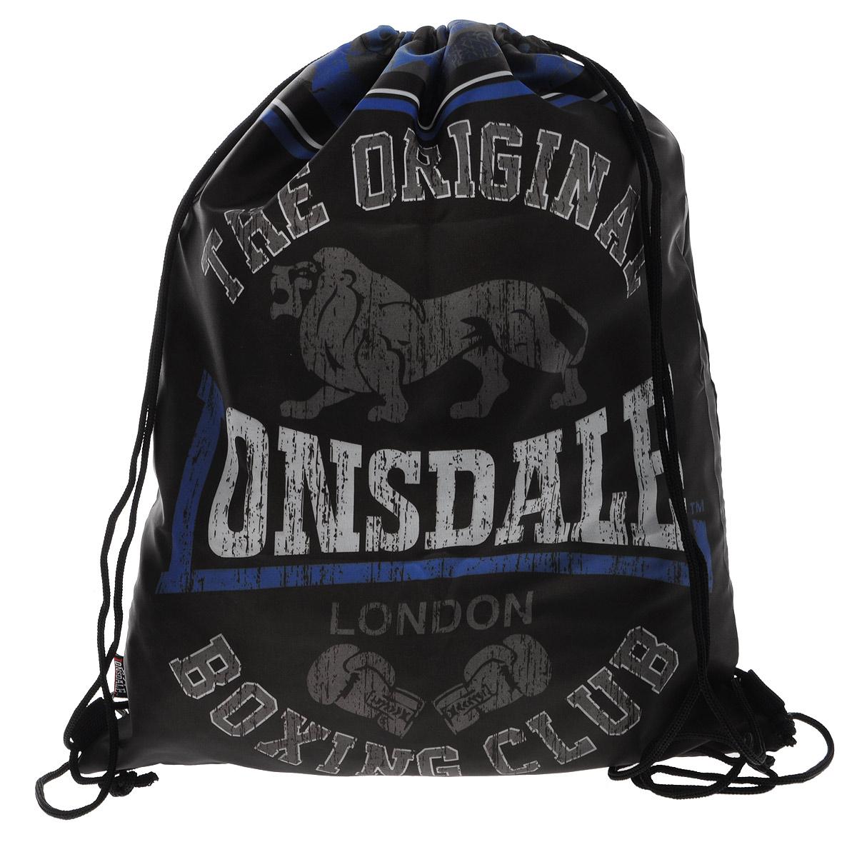 Lonsdale Сумка-рюкзак для обуви цвет черно-голубой LSCB-UT1-883
