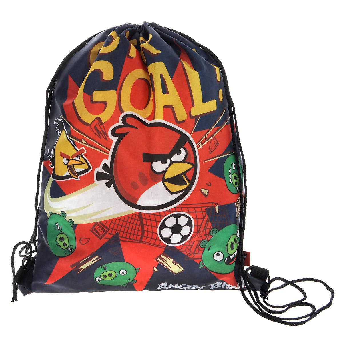 Сумка для сменной обуви Angry Birds, цвет: темно-синий, красныйABCB-UT1-883Сумка для сменной обуви Angry Birds идеально подойдет как для хранения, так и для переноски сменной обуви и одежды. Сумка выполнена из прочного водонепроницаемого полиэстера и содержит одно вместительное отделение, затягивающееся с помощью текстильных шнурков. Шнурки фиксируются в нижней части сумки, благодаря чему ее можно носить за спиной как рюкзак. Оформлено изделие изображениями персонажей популярной видеоигры Angry Birds. Ваш ребенок с радостью будет ходить с таким аксессуаром в школу.