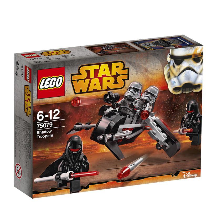 LEGO Star Wars Конструктор Воины Тени 7507975079Защити Империю с помощью бесшумных мистических теневых стражей. Повергни самого сильного врага с помощью их смертоносных световых мечей, а когда потребуется поддержка, вызывай теневых штурмовиков на спидере, вооруженном ракетами. Этот красочный игровой набор содержит 95 пластиковых элементов для сборки, 4 фигурки и инструкцию по сборке. Конструктор - это один из самых увлекательнейших и веселых способов времяпрепровождения. Ребенок сможет часами играть с конструктором, придумывая различные ситуации и истории. В процессе игры с конструкторами LEGO дети приобретают и постигают такие необходимые навыки как познание, творчество, воображение. Обычные наблюдения за детьми показывают, что единственное, чему они с удовольствием посвящают время - это игры. Игра - это состояние души, это веселый опыт познания реальности. Играя, дети создают собственные миры, осваивают их, восстанавливают прошедшие и будущие события через понарошку, а, познавая, приобретают знания и...