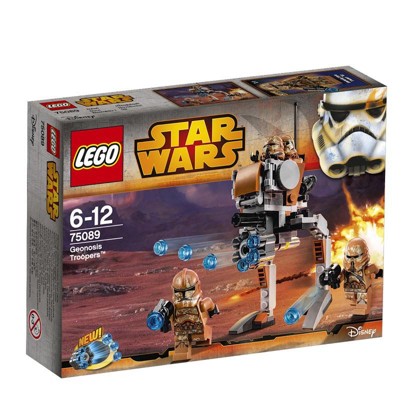 LEGO Star Wars Конструктор Пехотинцы планеты Джеонозис 7508975089Погрузи войско клонов на шагоход и обеспечь огневую поддержку десантников-клонов с помощью невиданной ранее скорострельной пушки. Прикрепи бластеры к шагоходу, чтобы еще увеличить огневую мощь. Этот красочный игровой набор содержит 105 пластиковых элементов для сборки, 4 фигурки и инструкцию по сборке. Конструктор - это один из самых увлекательнейших и веселых способов времяпрепровождения. Ребенок сможет часами играть с конструктором, придумывая различные ситуации и истории. В процессе игры с конструкторами LEGO дети приобретают и постигают такие необходимые навыки как познание, творчество, воображение. Обычные наблюдения за детьми показывают, что единственное, чему они с удовольствием посвящают время - это игры. Игра - это состояние души, это веселый опыт познания реальности. Играя, дети создают собственные миры, осваивают их, восстанавливают прошедшие и будущие события через понарошку, а, познавая, приобретают знания и умения. Фантазия ребенка...