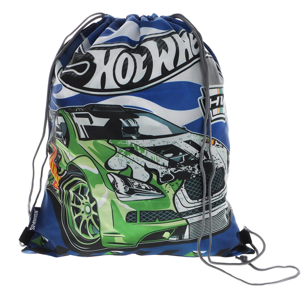 Hot Wheels Сумка-рюкзак для обуви цвет темно-синий зеленый HWCB-UT1-883