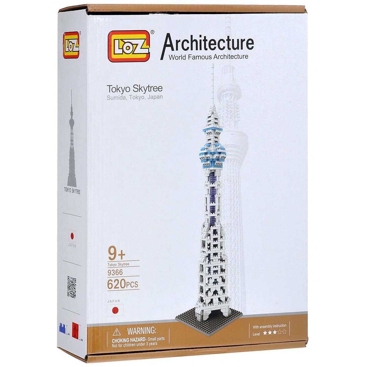 Loztoys Конструктор Телебашня Токио Skytree9366Конструктор-макет Телебашня Токио Skytree - прекрасный способ провести время увлекательно и с пользой. Комплект включает в себя 620 элементов, из которых вы и ваш ребенок сможете собрать модель телебашни, которая находится в Токио. Для сборки модели клей и ножницы не понадобятся. Элементы оснащены пазами для легкого соединения. В комплект входит схематичная инструкция по сборке. Телебашня Токио Skytree - телевизионная башня в районе Сумида, Токио, Япония, самая высокая среди телебашен мира. Второе по высоте сооружение в мире после Бурдж-Халифа. Во время строительства башня была известна под названием Новая Токийская башня. Название Tokyo Sky Tree было выбрано по итогам конкурса, который проходил в интернете с апреля по май 2008 года. Высота телебашни вместе с антенной составляет 634 метра, что почти в два раза выше Токийской телевизионной башни. Высота башни была выбрана так, чтобы цифры: 6 (на старом японском му), 3 (са), 4 (си) были созвучны Мусаси -...