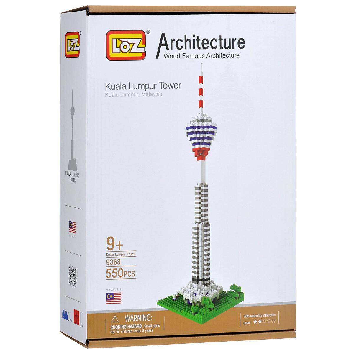 Loztoys Конструктор Башня Куала Лумпур9368Конструктор-макет Башня Куала Лумпур - прекрасный способ провести время увлекательно и с пользой. Комплект включает в себя 550 элементов, из которых вы и ваш ребенок сможете собрать модель башни Куала Лумпур, которая является символом столицы Малайзии. Для сборки модели клей и ножницы не понадобятся. Элементы оснащены пазами для легкого соединения. В комплект входит схематичная инструкция по сборке.