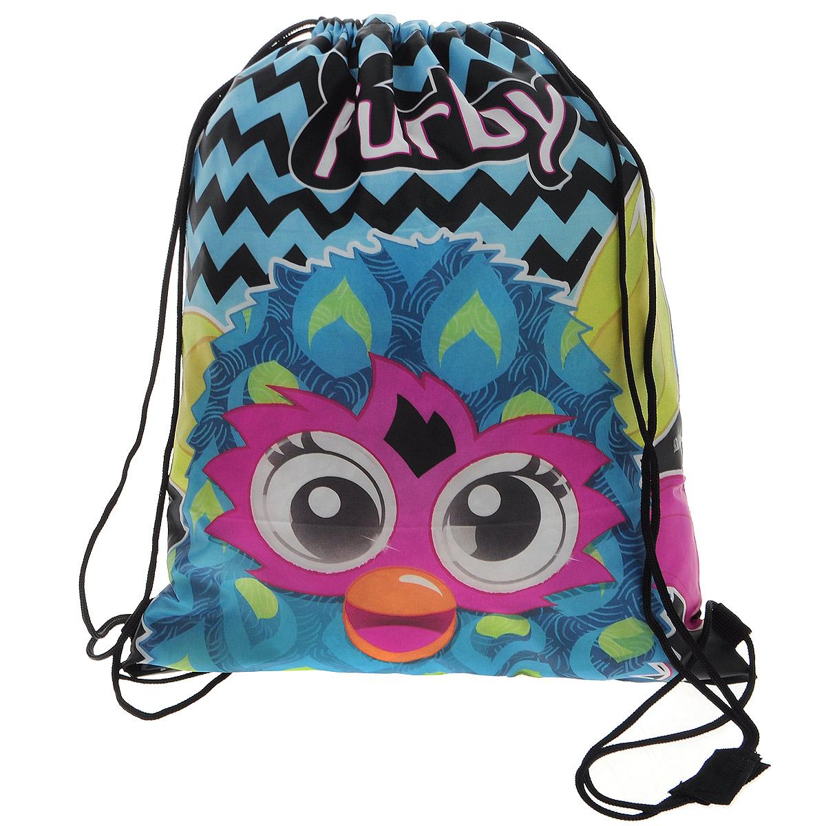 Furby Сумка-рюкзак для обуви цвет голубой FRCB-UT1-883