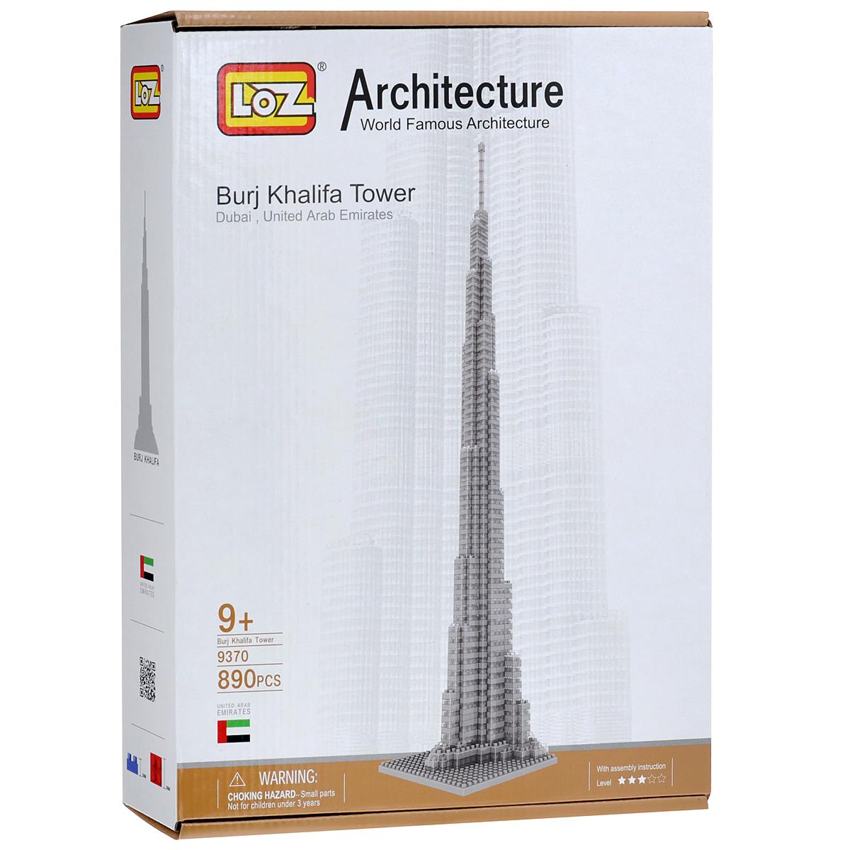 Loztoys Конструктор Башня Бурж Халифа9370Конструктор-макет Башня Бурж Халифа - прекрасный способ провести время увлекательно и с пользой. Комплект включает в себя 890 элементов, из которых вы и ваш ребенок сможете собрать модель башни, которая находится в Дубае. Для сборки модели клей и ножницы не понадобятся. Элементы оснащены пазами для легкого соединения. В комплект входит схематичная инструкция по сборке. Башня Бурж Халифа - небоскреб высотой 829,8 метров в Дубае (163 этажа), самое высокое сооружение в мире. Форма здания напоминает сталагмит. Торжественная церемония открытия состоялась 4 января 2010 года в крупнейшем городе Объединенных Арабских Эмиратов - Дубае.