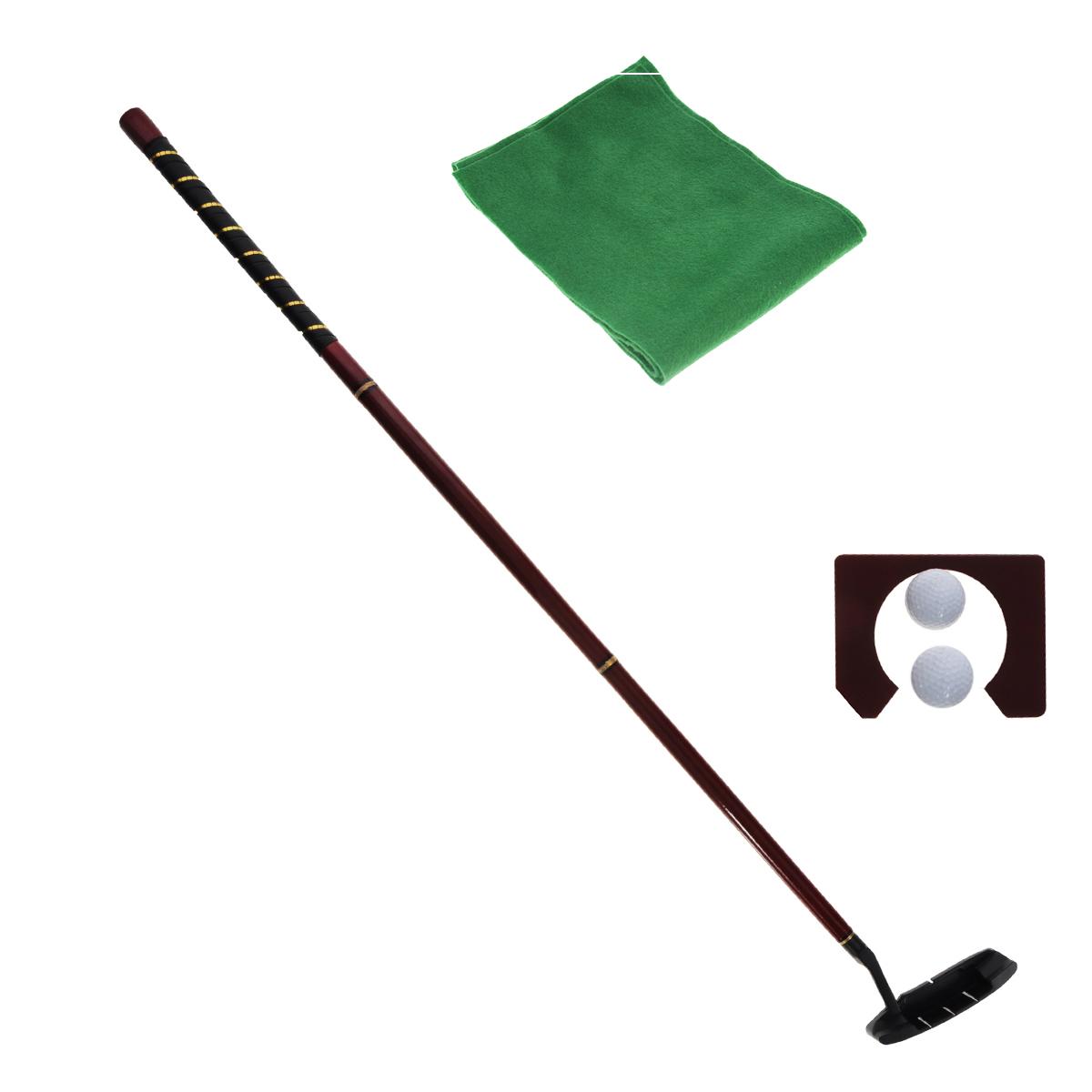 Подарочный набор для гольфа Русские Подарки, размер: 34*30*8 см. 4401744017Подарочный набор для гольфа Русские Подарки, выполненный из дерева и покрытый цветным лаком, никого не оставит равнодушным. В комплект игры входят: клюшка-путтер, собирающаяся из четырех деталей - трех деталей ручки и металлического наконечника; 2 мячика, лунка и игровое поле из нетканого материала, имитирующее газон. Верх ручки украшен декоративной оплеткой, детали скрепляются между собой с помощью металлических вставок с резьбой. Набор вложен в деревянный кейс с удобной ручкой, закрывающийся на замок-защелку. Игра поможет развить точность глазомера, мелкую моторику, снять стресс и интересно и с пользой провести время.