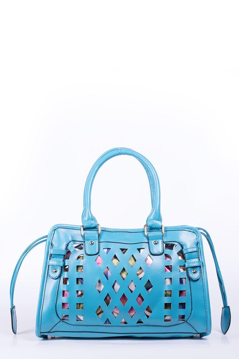 Сумка женская Renee Kler, цвет: синий. RK-08706RK-08706Яркая женская сумка Renee Kler изготовлена из искусственной кожи и прозрачного ПВХ. Изделие оформлено перфорацией. Модель имеет одно основное отделение. Сумка оснащена красочным текстильным чехлом на шнурке, который пристегивается на кнопки. Внутри чехла имеется два пришивных кармана и прорезной карман на молнии. Изделие можно использовать и без чехла. Сумка оснащена двумя ручками для удобной переноски в руках. Изделие упаковано в фирменный чехол на кулике. Роскошная сумка внесет яркие нотки в ваш образ и подчеркнет ваше отменное чувство стиля.