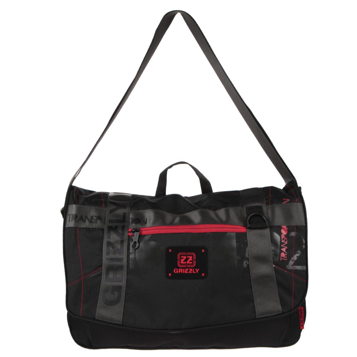 Grizzly Сумка школьная цвет черный красныйММ-504-2/3Сумка молодежная наплечная с одним отделением, передними, боковыми, задним и внутренними карманами, ручкой для переноски и регулируемым плечевым ремнем