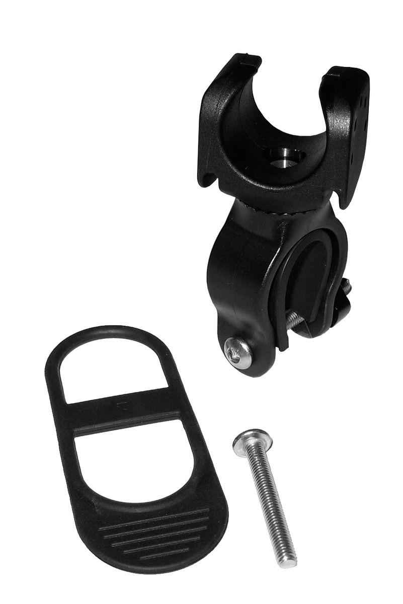Крепление велосипедное универсальное Led Lenser, цвет: черный7799-PTУниверсальное велосипедное крепление для фонаря Led Lenser позволяет закрепить фонарь на руль велосипеда. Изделие выполнено из прочного пластика, резиновые вставки предотвращают скольжение. Крепление легко устанавливается и снимается. Дополнительный болт в комплекте.