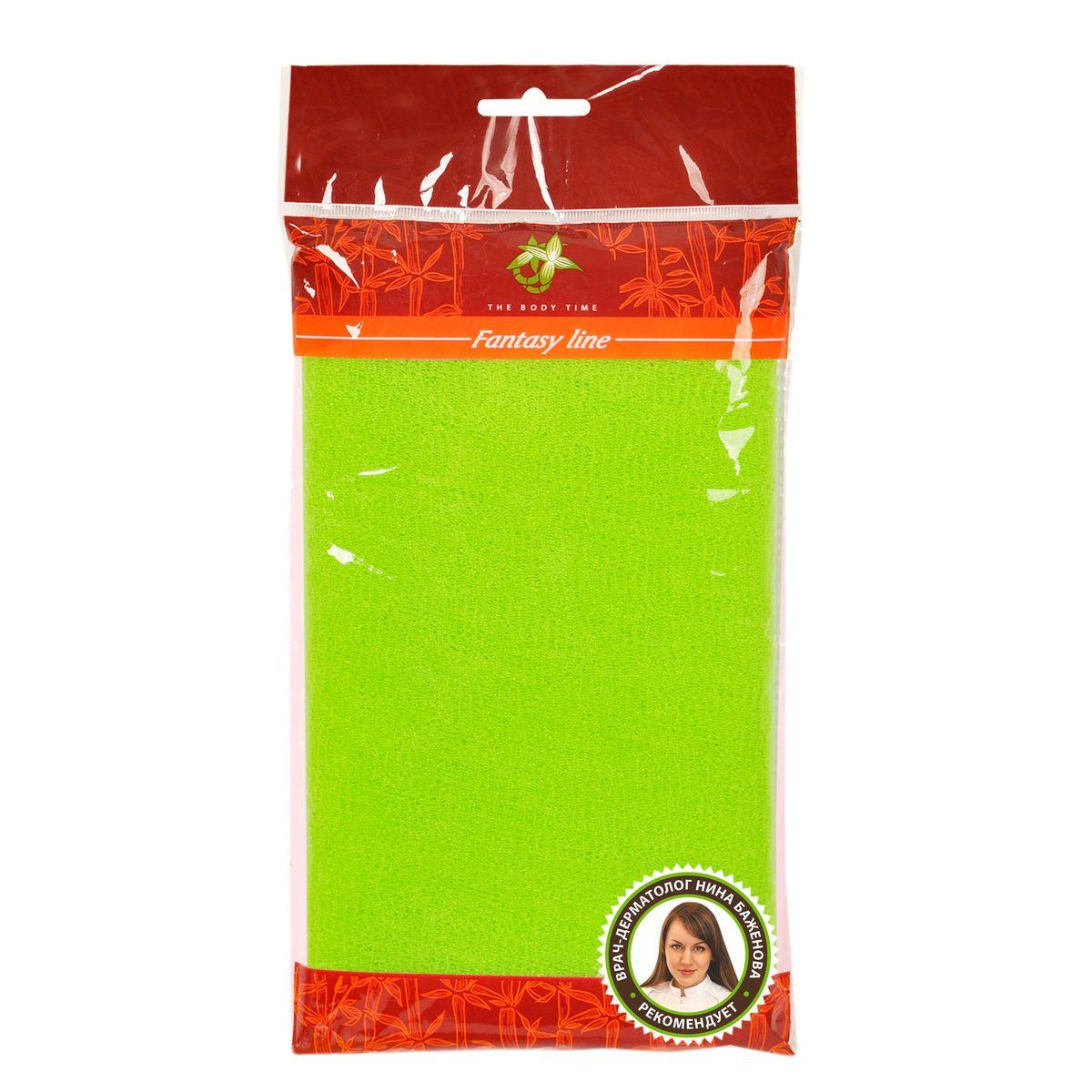Мочалка-скраб The Body Time, цвет: зеленый, 100 х 30 см57051 зеленыйМочалка-скраб The Body Time изготовлена из нейлона. Благодаря особому переплетению волокон, мочалка прекрасно очищает, массирует и тонизирует кожу, создает пышную пену даже при экономном использовании геля для душа. Изделие можно использовать как мочалку-бант или как длинную мочалку для спины.