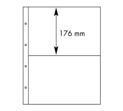 Лист в альбом Folio 2С для ценных бумаг, на 2 ячейки. Leuchtturm. 317693 (10 листов в упаковке)317693Характеристики: Размер листа: 29 см х 36,5 см Размер ячейки: 26 см x 17,6 см Количество листов в упаковке: 10