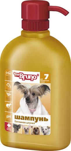 Шампунь-кондиционер для собак Mr. Bruno Богемная штучка, для бесшерстных пород, 350 млMB05-00720Шампунь-кондиционер Mr. Bruno Богемная штучка для бесшерстных пород собак. Рекомендуется для собак бесшерстных пород или частично бесшерстных. норковое масло обеспечивают мягкое очищение и бережный уход за нежной кожей; экстракт зеленого чая создаёт неповторимый нежный аромат; PVP - комплекс устраняет сухость и раздражение кожи. Товар сертифицирован.