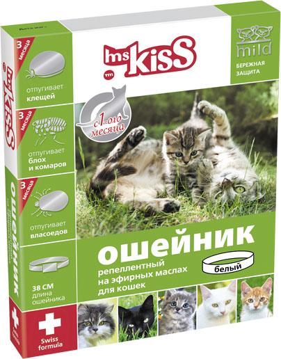 Ошейник для кошек Мисс Кисс, репеллентный, цвет: красный, длина 38 смMK05-00340Ошейник репеллентный для кошек Мисс Кисс - безопасное и эффективное средство на основе натуральных эфирных масел цитронеллы и лаванды для отпугивания эктопаразитов кошек. Легко регулируется, поэтому подойдет как котятам с 1-го месяца жизни, так и взрослым кошкам. Эффективен в течение всего сезона, 3-х месяцев. Отпугивает блох, комаров, клещей, власоедов. Длина ошейника 38 см.