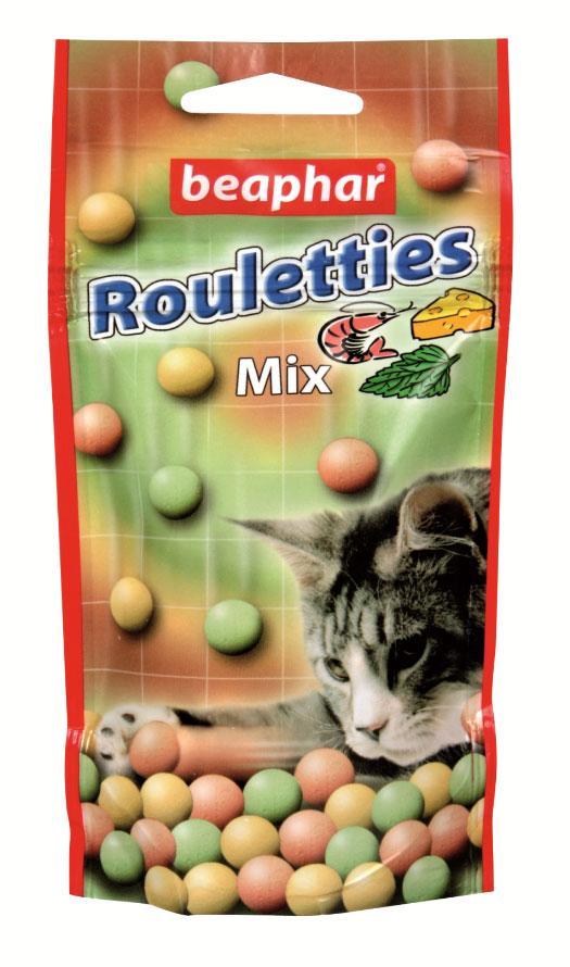 Лакомство для кошек Beaphar Rouletties Mix, цвет: оранжевый, зеленый, 80 шт13184Лакомство Beaphar Rouletties Mix с креветками, сыром и кошачьей мятой для кошек очень вкусно и полезно. Оно содержит витамины, минералы и микроэлементы. Улучшает настроение, а также помогает уберечь кошку от стрессов. Применяется в качестве лакомства для кошек, начиная с 6-месячного возраста. Состав: молоко и молочные продукты, сахар, минералы, мясо и мясопродукты (более 4% ливер), рыба и рыбопродукты (более 4% креветок). Анализ: протеин (8,8%), жиры (2,8%), клетчатка (7,4%), зола (12,8%), влага (4,7%), кальций (1,8%), фосфор (1,3%), натрий (0,2%). Добавки: микрокристаллическая целлюлоза Е 460, стеарат кальция E 470. Количество в упаковке: 80 шт. Товар сертифицирован.