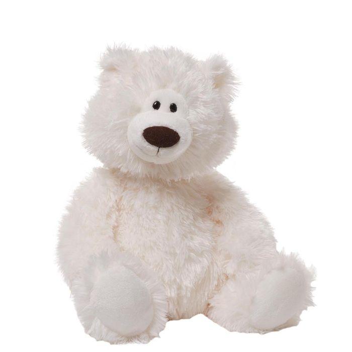 Игрушка мягкая Gund Медведь, цвет: белый, 40 см. 40401624040162Очаровательная мягкая игрушка Медведь не оставит вас равнодушным и вызовет улыбку у каждого, кто ее увидит. Игрушка выполнена из полиэстера в виде милого белого медвежонка. Милые, мягкие и безопасные игрушки отличаются реалистичным внешним видом, напоминающим настоящего питомца. Только посмотрите на эту милую мордашку, которая так приветливо смотрит на вас. Разве можно устоять перед ее обаянием? Конечно нет, да и не нужно! Такая игрушка вызывает умиление не только у детей, но и у взрослых. Поэтому она станет отличным подарком не только ребенку, но и друзьям!
