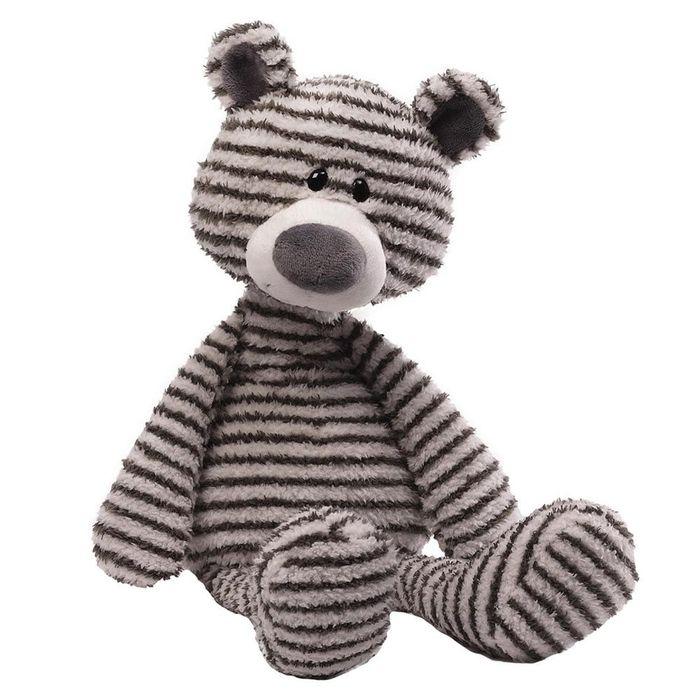 Игрушка мягкая Gund Zag, цвет: серый, белый, 40 см. 40440714044071Очаровательная мягкая игрушка Zag не оставит вас равнодушным и вызовет улыбку у каждого, кто ее увидит. Игрушка выполнена из полиэстера в виде забавного полосатого животного. Милые, мягкие и безопасные игрушки отличаются реалистичным внешним видом, напоминающим настоящего питомца. Только посмотрите на эту милую мордашку, которая так приветливо смотрит на вас. Разве можно устоять перед ее обаянием? Конечно нет, да и не нужно! Такая игрушка вызывает умиление не только у детей, но и у взрослых. Поэтому она станет отличным подарком не только ребенку, но и друзьям!