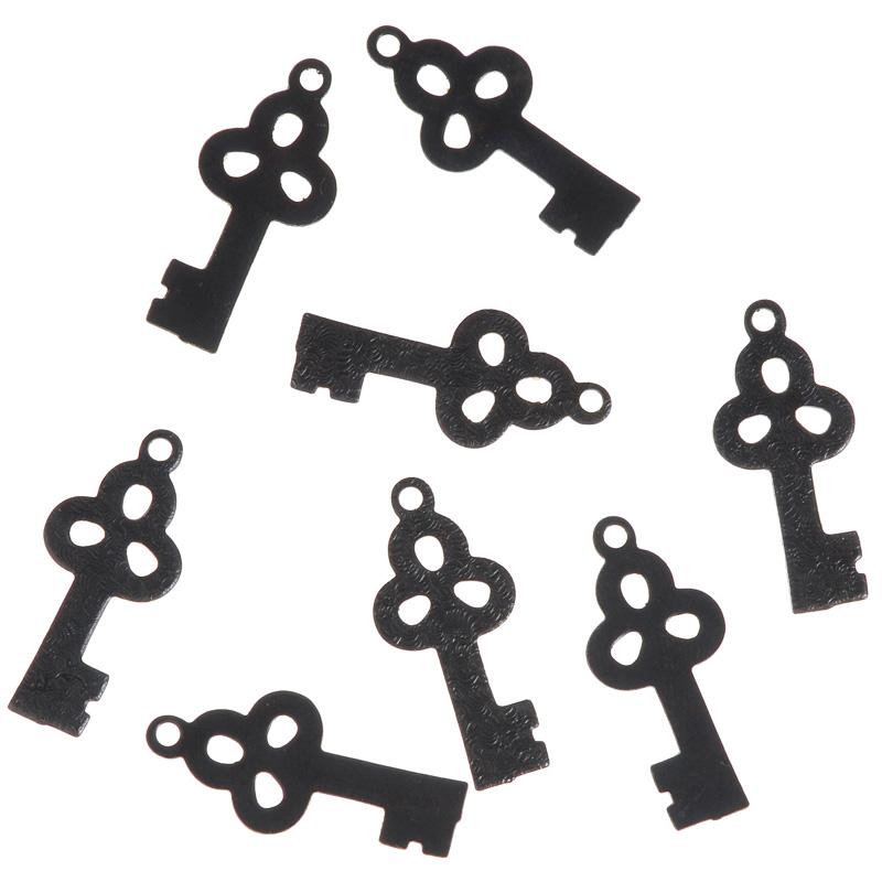 Декоративный элемент Vintaj Тисненый ключик, цвет: черный, 22 мм х 10 мм, 8 штAHW015RRНабор Vintaj Тисненый ключ изготовлен из металла и предназначен для декорирования в различных техниках. С его помощью вы сможете украсить альбом, одежду, подарок и другие предметы ручной работы. Декоративные элементы имеют форму плоского ключа и оригинальный дизайн. Скрапбукинг - это хобби, которое способно приносить массу приятных эмоций не только человеку, который этим занимается, но и его близким, друзьям, родным. Это невероятно увлекательное занятие, которое поможет вам сохранить наиболее памятные и яркие моменты вашей жизни, а также интересно оформить интерьер дома. Размер элемента: 22 мм х 10 мм.