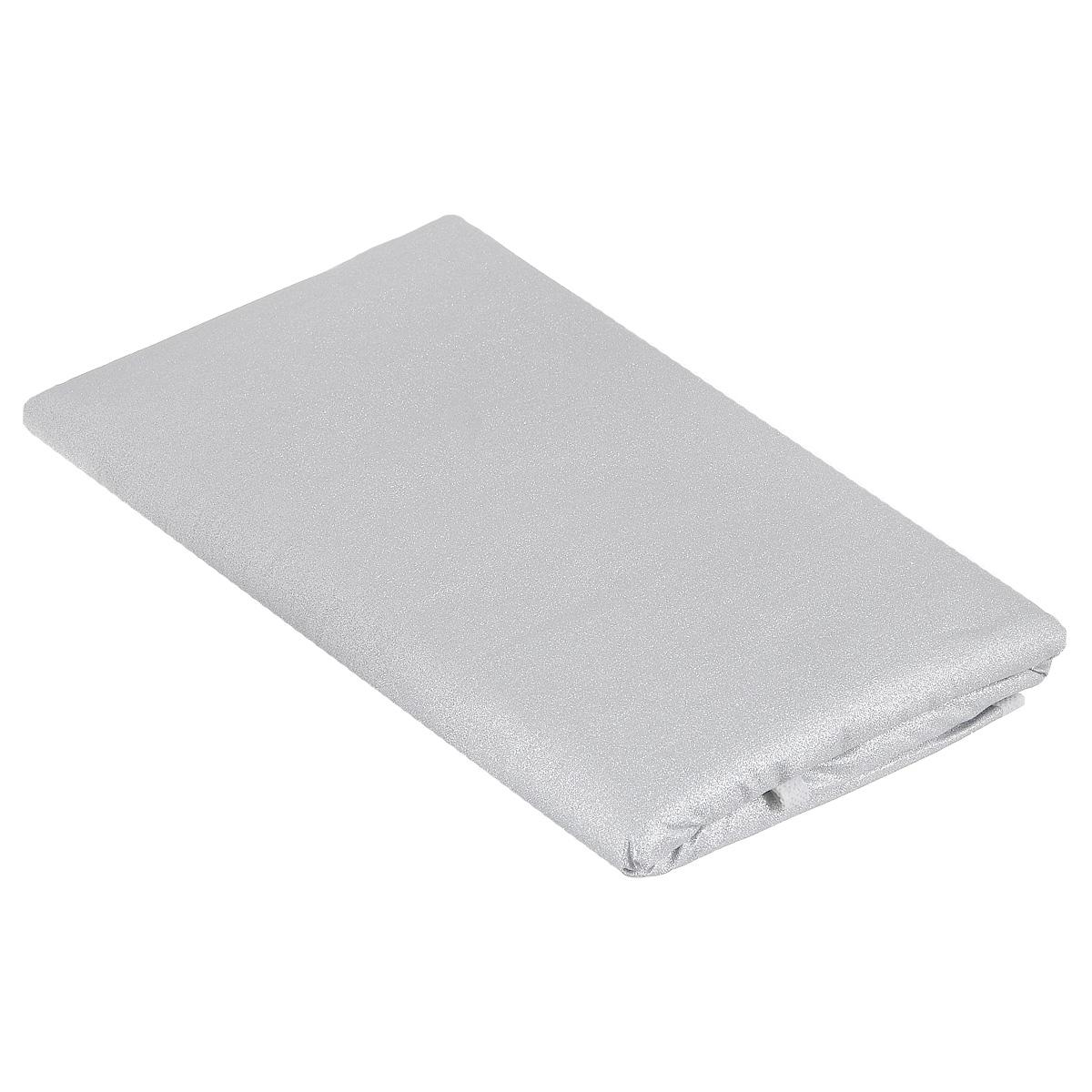 Чехол для гладильной доски Eva, цвет: серебристый, 120 см х 40 смЕ12_сереброЧехол для гладильной доски Eva выполнен из хлопчатобумажной ткани с термостойким тефлоновым покрытием и поролоновой подкладкой. Чехол предназначен для защиты или замены изношенного покрытия гладильной доски. Благодаря удобной системе фиксации легко крепится к гладильной доске. Этот качественный чехол обеспечит вам легкое глажение. Размер чехла: 120 см x 40 см. Размер доски, для которой предназначен чехол: 112 см x 32 см.