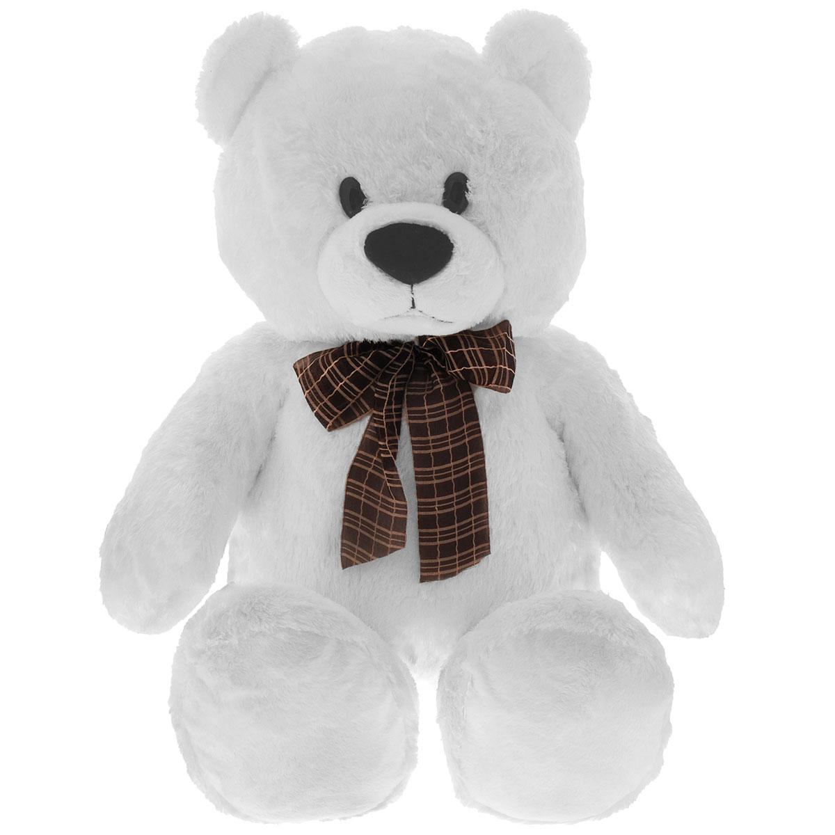 Мягкая игрушка Aurora Медведь сидячий, цвет: белый, 74 см