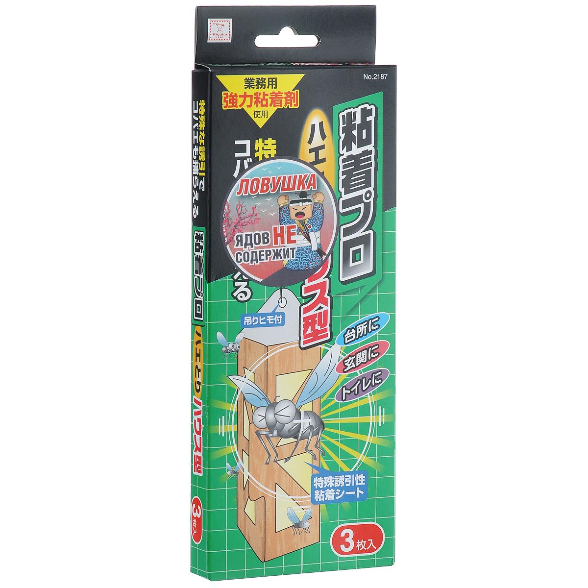 Средство от мух KOKUBO Nenchaku Pro, 3 шт221875Удобная и безопасная ловушка KOKUBO Nenchaku Pro, выполненная в виде картонного домика с липкой поверхностью, избавит вас от мух на кухне, в туалете, в местах хранения мусора, в саду, в местах пребывания домашних животных. В наборе три домика. Рекомендуется использовать на кухне, в прихожей, в туалете, вокруг мусорного бочка, рядом с конурой собаки или местом обитания домашнего питомца, рядом с горшками растений. Состав: бумага, древесные волокна, полиэтилен, переработанный крахмал, силикон, полибутен. Размер домика с сложенном виде: 18 см х 7 см х 5 см.