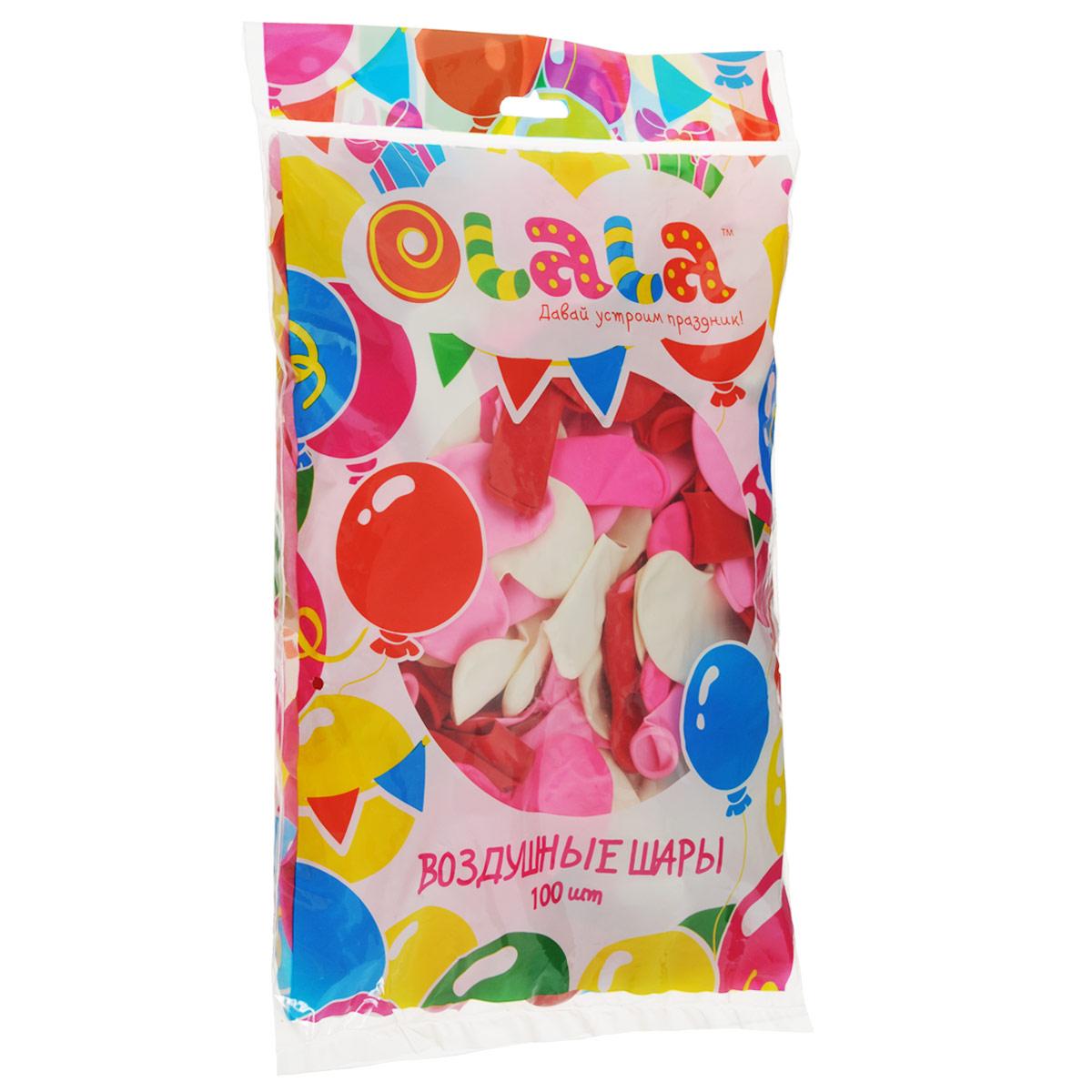"""Набор воздушных шаров """"Olala"""", 100 шт"""