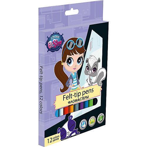 Набор цветных фломастеров, 12 шт Littlest Pet ShopLPCB-US1-2MB-12Набор цветных фломастеров с любимыми героями станут прекрасным подарком. Фломастеры предназначены для рисования и раскрашивания, помогут вашему ребенку создать неповторимые яркие рисунки. Набор включает в себя фломастеры 12 ярких насыщенных цветов в разноцветных корпусах (цвет колпачка соответствует цвету чернил). Каждый фломастер оснащен плотным вентилируемым колпачком, надежно защищающим чернила от испарения, корпус дополнен золотым тиснением логотипа. Фломастеры упакованы в картонную коробку.