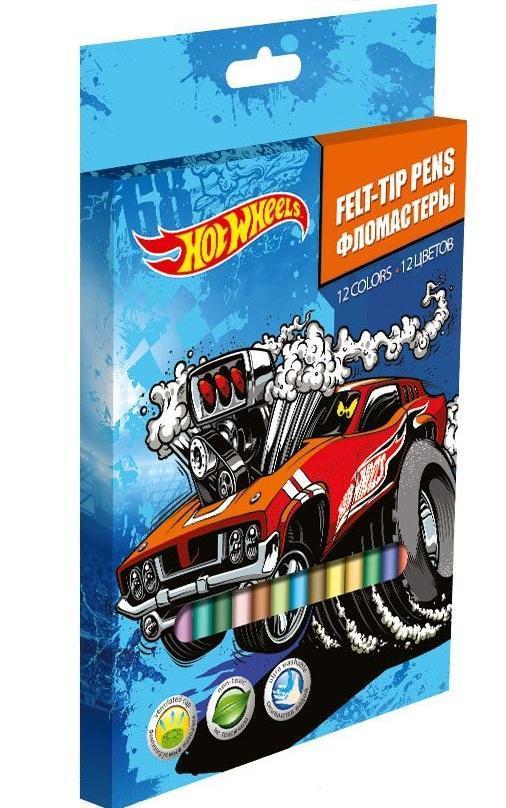 Набор цветных фломастеров, 12 шт Hot Wheels (HotWheels)