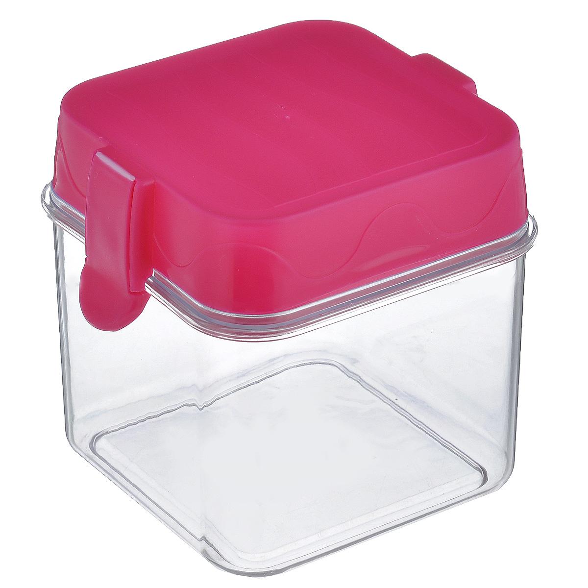 Банка для сыпучих продуктов Oriental Way, цвет: прозрачный, розовый, 650 мл7819_розовыйБанка для сыпучих продуктов Oriental way, изготовленная из высококачественного пластика, станет незаменимым помощником на любой кухне. В ней будет удобно хранить сыпучие продукты, такие как чай, кофе, соль, сахар, крупы, макароны и прочее. Емкость плотно закрывается пластиковой крышкой с помощью двух защелок (клипс). Яркий дизайн банки позволит украсить любую кухню, внеся разнообразие, как в строгий классический стиль, так и в современный кухонный интерьер.
