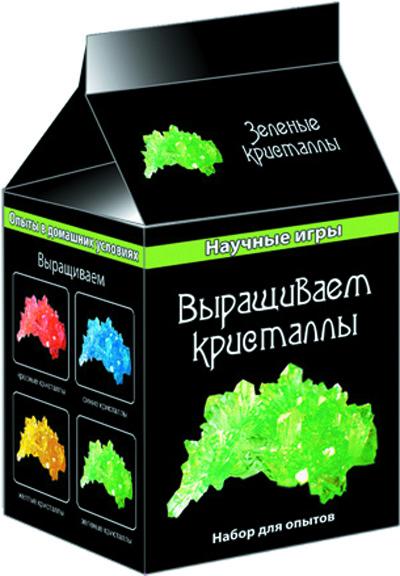 Выращиваем кристаллы (зеленые) (Н) - Научные игры (мини)12116006РСерия Научные игры мини собрала лучшие опыты по химии, которые можно проводить в домашних условиях. Наборы содержат все необходимое: химические реактивы, оборудование и инструкцию.