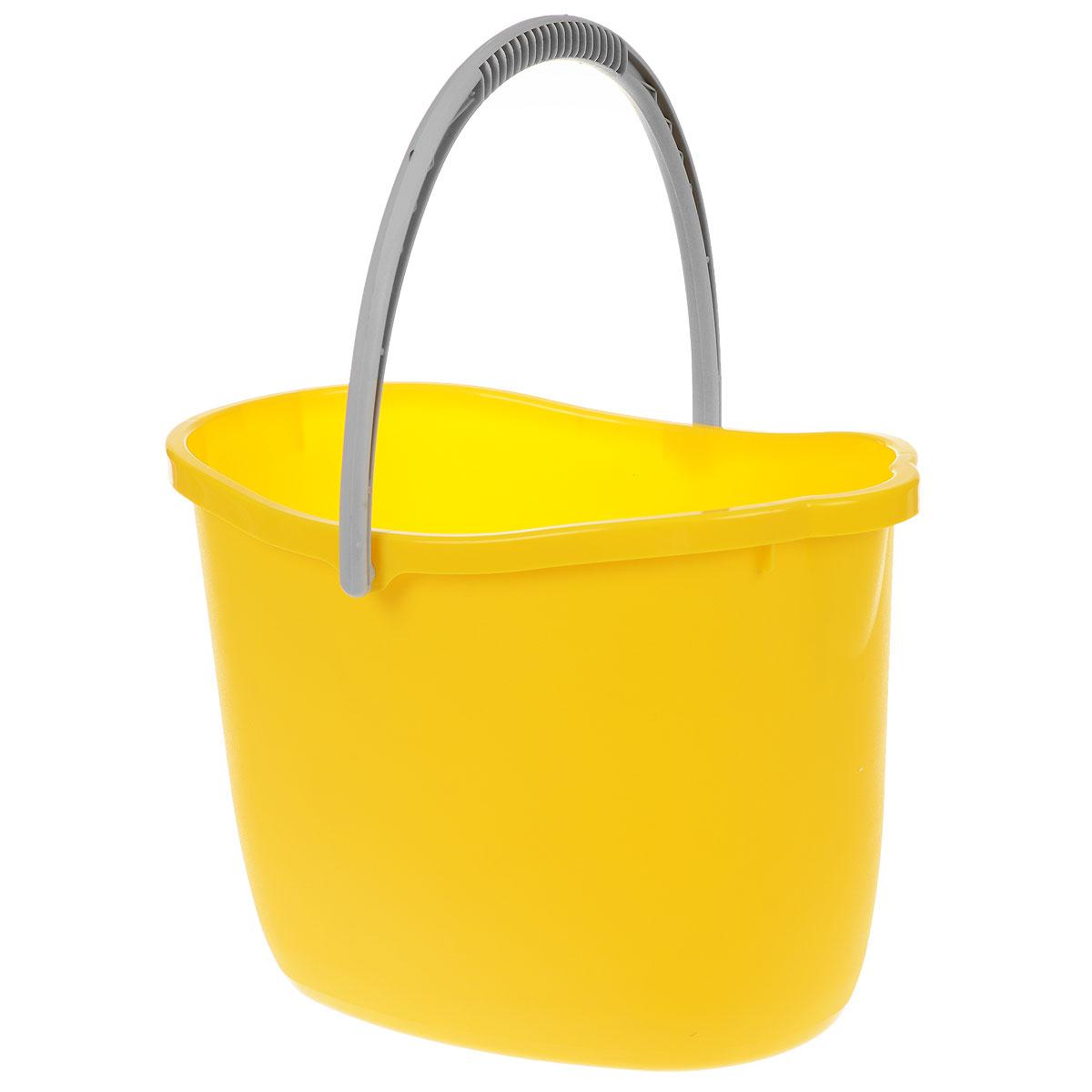 Ведро Apex, цвет: желтый, 15 л. 1036510365-A_желтыйВедро Apex изготовлено из высококачественного цветного пластика. Оно легче железного и не подвержено коррозии. Уникальный дизайн и эргономическая форма ручки позволяет с комфортом и безболезненно переносить содержимое ведра. Такое ведро станет незаменимым помощником в хозяйстве. Размер (по верхнему краю): 26 см х 37 см. Высота (без учета ручки): 26 см.