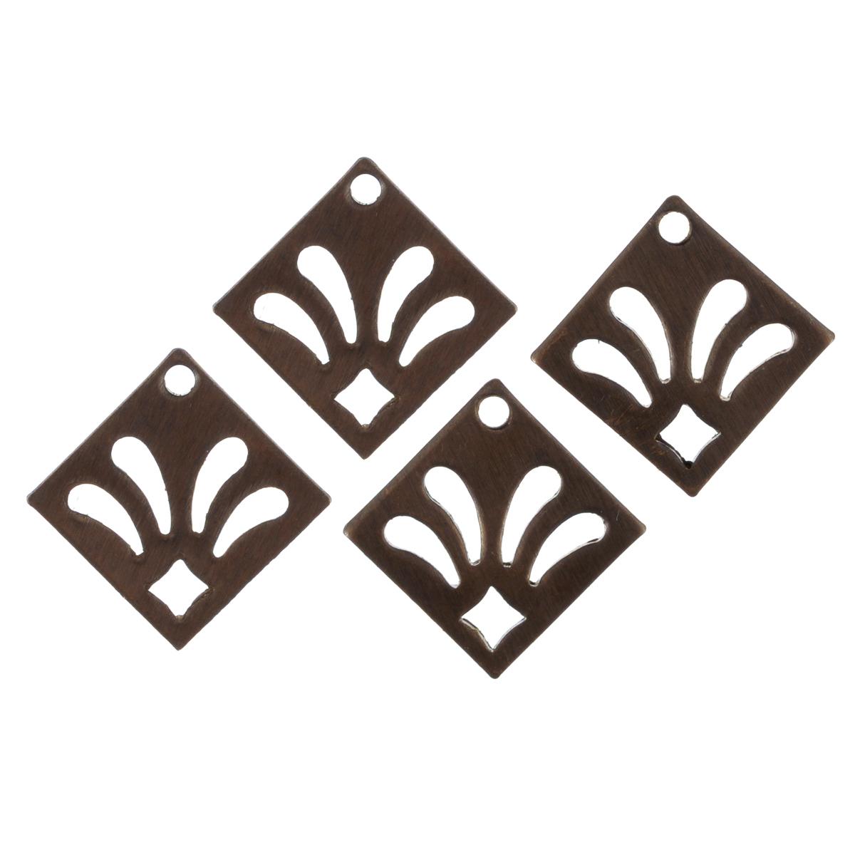 Металлическая подвеска Vintaj Лилия, 16 мм х 16 мм, 4 штDP420RRПодвески Vintaj изготовлены из металла и предназначены для декорирования в различных техниках. Подвески, отличаются прочностью и практичностью. С их помощью вы сможете украсить фотографию, альбом, одежду, подарок и другие предметы ручной работы. Изготовление украшений - занимательное хобби и реализация творческих способностей рукодельницы. Радуйте себя и своих близких украшениями, сделанными своими руками! Размер подвески: 16 мм х 16 мм.
